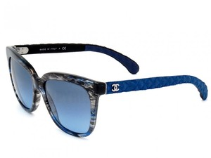 Chanel NEW Chanel 5343 Signature Quilted Denim Blue Sunglasses
