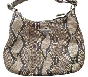 Prada Snakeskin Hobo Bag