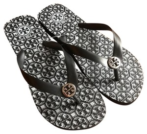Tory Burch black and gray Sandals