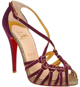 Christian Louboutin Crisscross Strap 8 Mignons Suede Amethyst Amethyst (Purple) Sandals