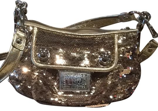Preload https://item2.tradesy.com/images/coach-gold-sequin-and-leather-cross-body-bag-2089226-0-0.jpg?width=440&height=440