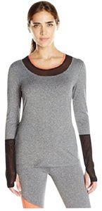 Gottex NWT X By Women's Colorblock Long Sleeve Top with Back Zipper Pocket