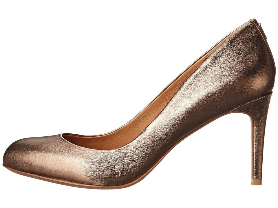 97b6761710b Coach Bronze Rosey Metallic Leather Heel Q6316 Pumps Size US 10 ...
