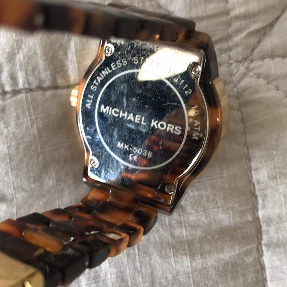 dee92e5d15c6 Michael Kors Tortoise Shell Band with Gold Detailing Mk-5038 Watch ...