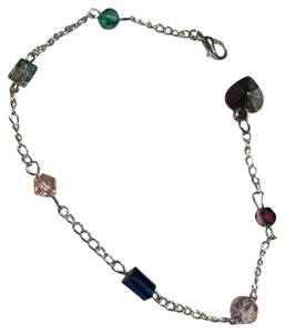 Other New Handmade Crystal Anklet Silver Tone J3184