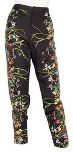 Gucci Capri/Cropped Pants Black & floral