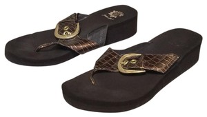 Yellow Box brown and gold Sandals