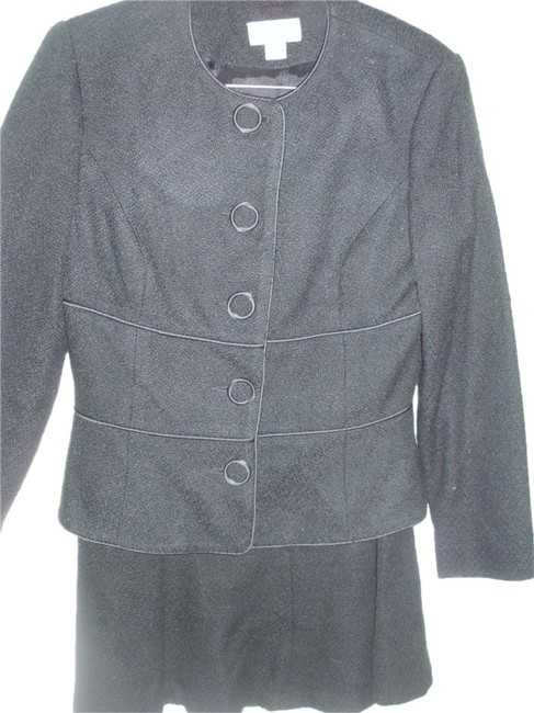 Item - Black Boucle Jacket Blazer Tailored Business Skirt Suit Size 4 (S)