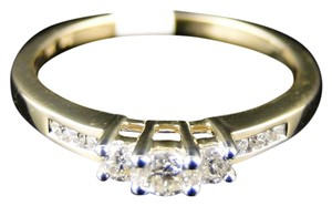 Other 14K YELLOW GOLD LADIES 3 STONE DIAMOND WEDDING ENGAGEMENT BAND RING
