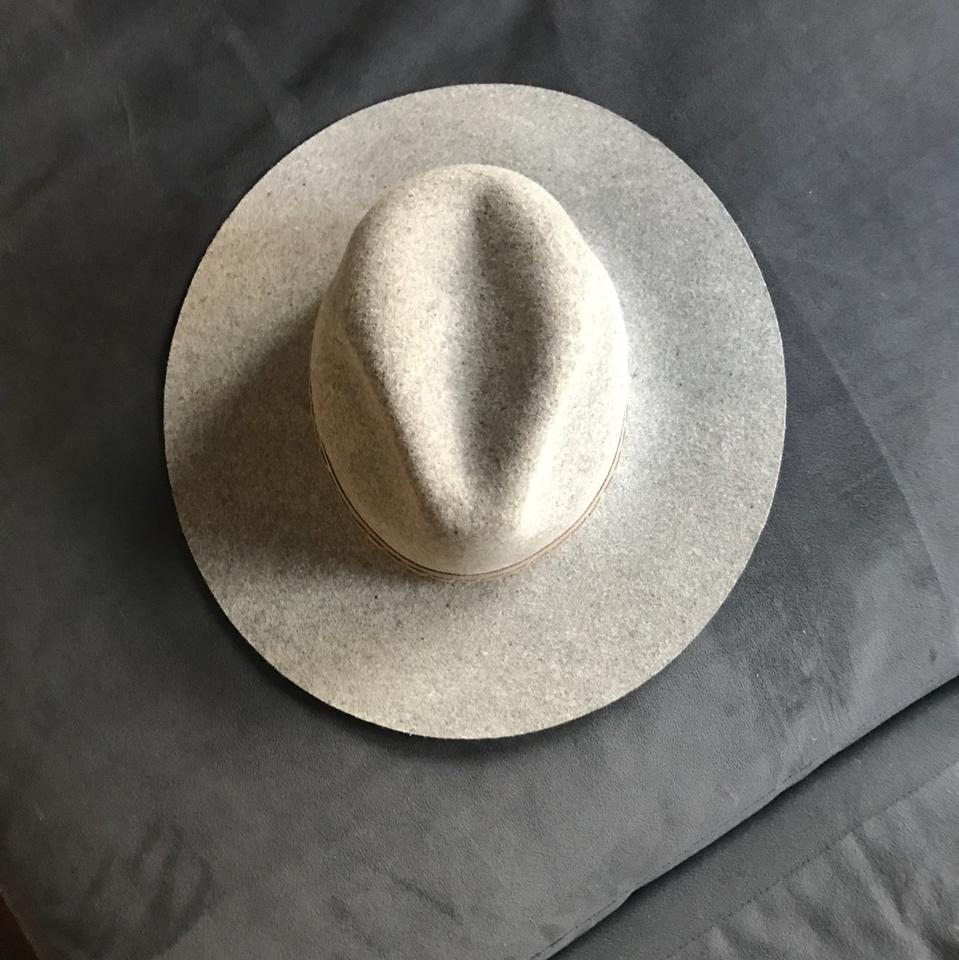 136cacdc6e7ee Rag   Bone Oxford Grey Wide Brim Wool Fedora SOLD OUT Image 8. 123456789