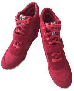 Ash Sneakers Leather red Wedges