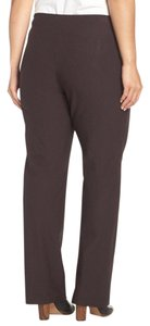 Eileen Fisher Brown F6tk-p3100x Pull On Stretch Straight Pants CLOVE