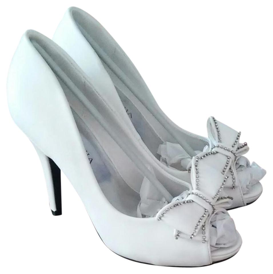 748291bda7 Lasonia Shoes White Wet Valerie Low Heel Bridal Pump Formal Shoes ...
