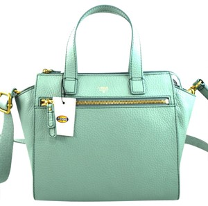 Fossil Satchel in Sea Glass Green