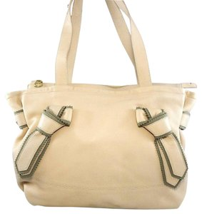 Chloé Leather Pebbled Shoulder Hobo Tote in Nude