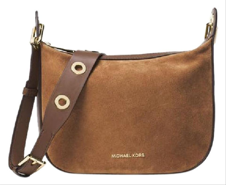 Michael Kors Mk Collection Caramel Suede Messenger Bag - Tradesy bf71d3f38ac8d