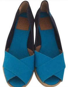 Tory Burch turquoise and blue Wedges
