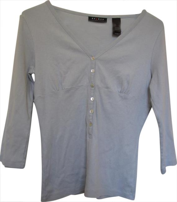 Item - 3/4 Sleeves with Six Buttons On Front Light Green Sweater