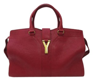 Saint Laurent St. Laurent Ligne Satchel in Red