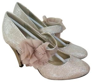 Lasonia Shoes Glitter Gold Formal