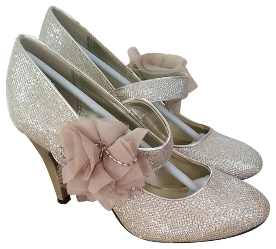 cb291ecac1 Lasonia Shoes Glitter Gold Carly Low Heel Pump In Formal Shoes Size ...