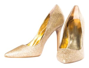 INC International Concepts Bamboo Slip On Glam Gold Pumps