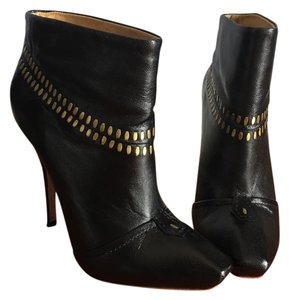 L.A.M.B. Black and Gold Boots