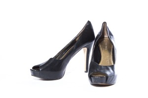 Nine West Platform Peep Toe Black Pumps