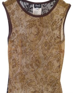 Dolce&Gabbana Top gold/ brown