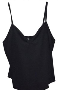 Laundry by Shelli Segal Silk V-neck Summer Top Black