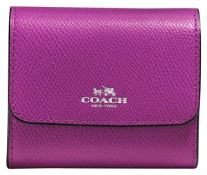 Coach Accordion Card Case in Crossgrain Leather
