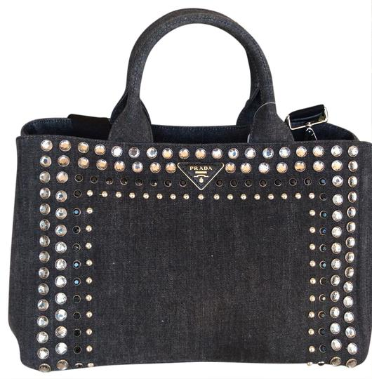 259964a62dac Prada Canapa Denim Bag | Stanford Center for Opportunity Policy in ...