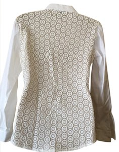Ann Taylor Lace Top ivory