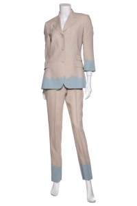Paul Smith Paul Smith Tan & Blue Dip Detail Pant Suit