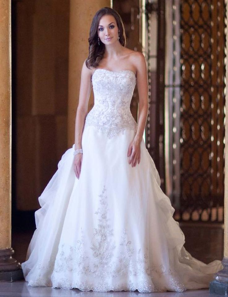 Private Label by G Ivory Organza 1472 Formal Wedding Dress Size 12 ...