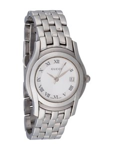 Gucci GUCCI 5500L Wrist Watch for Women Date Stainless Steel Silver Dial