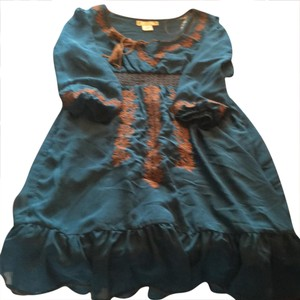 Flying Tomato short dress dark aqua blue on Tradesy