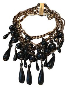 Gucci Runway Bronze Multi Curb Chain Beaded Necklace STATEMENT