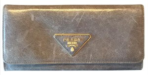 Prada Taupe Leather Wallet