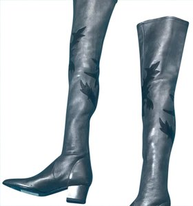 Chanel Grey Boots