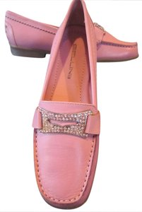 Bellini Studded Rhinestones Bling Loafers Pink Flats