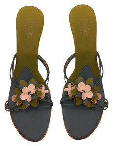 Charles by Charles David Floral Multicolor Strappy White, blue, green Sandals