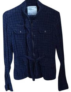 American Eagle Outfitters Black and Blue Jacket