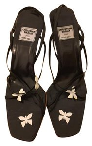 Christian Vadim pour Rosselli Butterfly Strappy Black Sandals