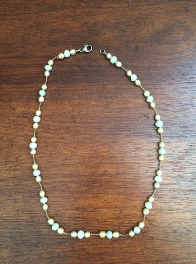 Other Peach and Mint Bead Necklace 15""