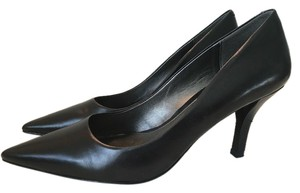 Connie Leather Black Pumps