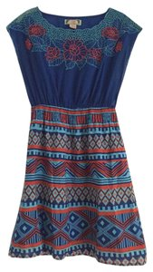 Flying Tomato short dress Multi Embroidered A-line Patterned Geometric on Tradesy