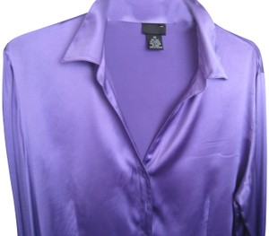 BCBGMAXAZRIA Button Down Shirt Purple
