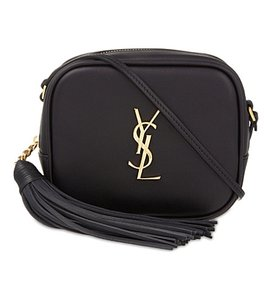 Saint Laurent Ysl Blogger Leather Monogram Cross Body Bag