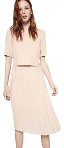 Zara Tea Pleated Midi Blush Dress
